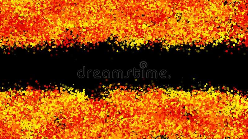 Fondo punteado negro abstracto Ejemplo colorido de Digitaces ilustración del vector