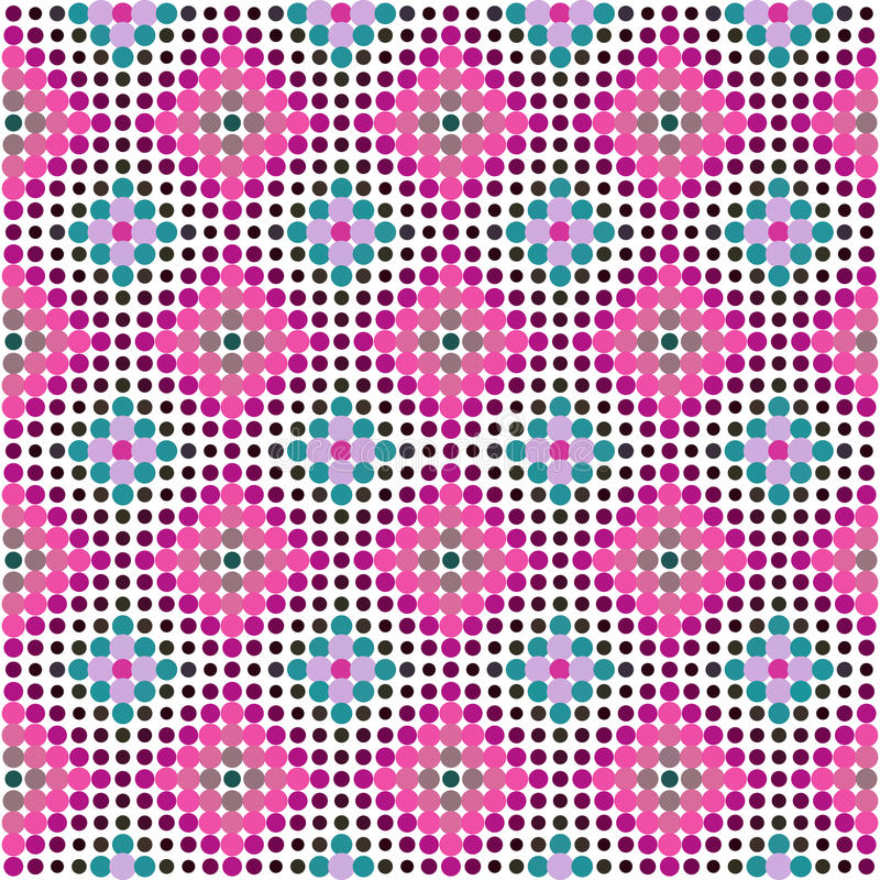 Fondo punteado tono medio ornamental Illustrat colorido del vector stock de ilustración