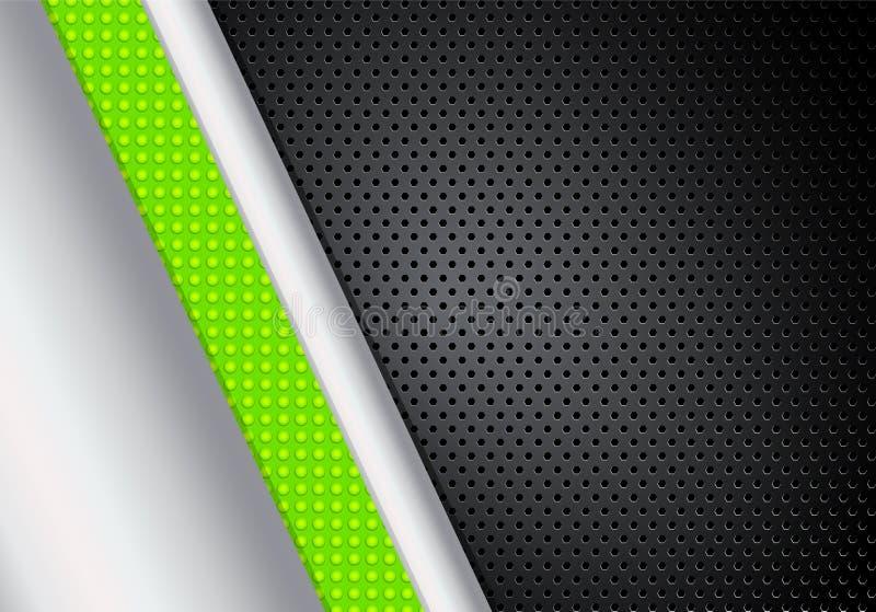 Fondo punteado verde y negro corporativo abstracto, vect común ilustración del vector