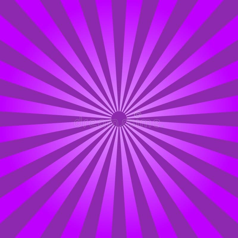 Fondo purpúreo claro abstracto de los rayos Vector stock de ilustración