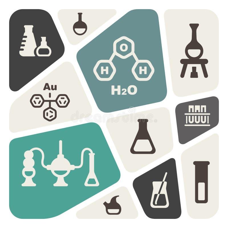 Fondo químico stock de ilustración