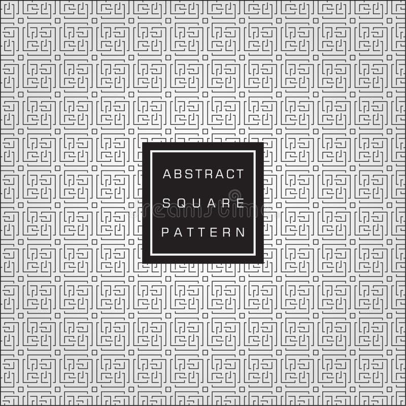 Fondo quadrato astratto geometrico estensibile di vettore del modello illustrazione vettoriale