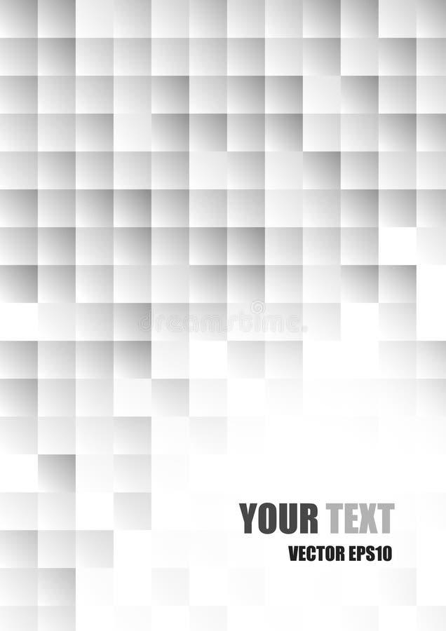 Download Fondo Quadrato Bianco E Grigio Moderno Astratto Illustrazione Vettoriale - Illustrazione di corporativo, copertura: 56877706
