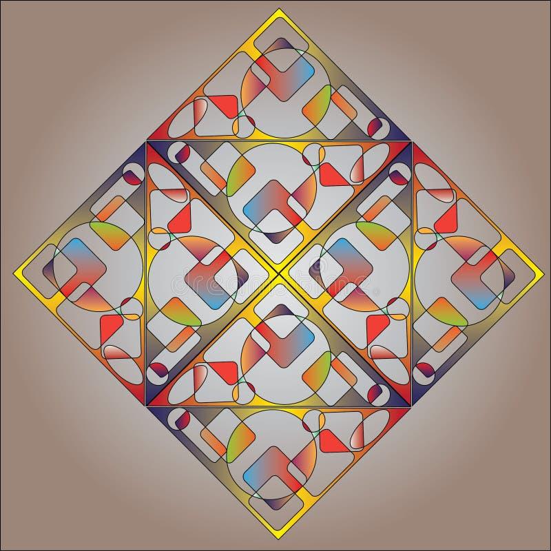Fondo quadrato multicolore astratto illustrazione di stock