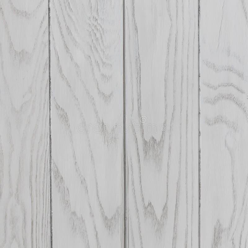 Fondo quadrato strutturato di legno bianco fotografia stock