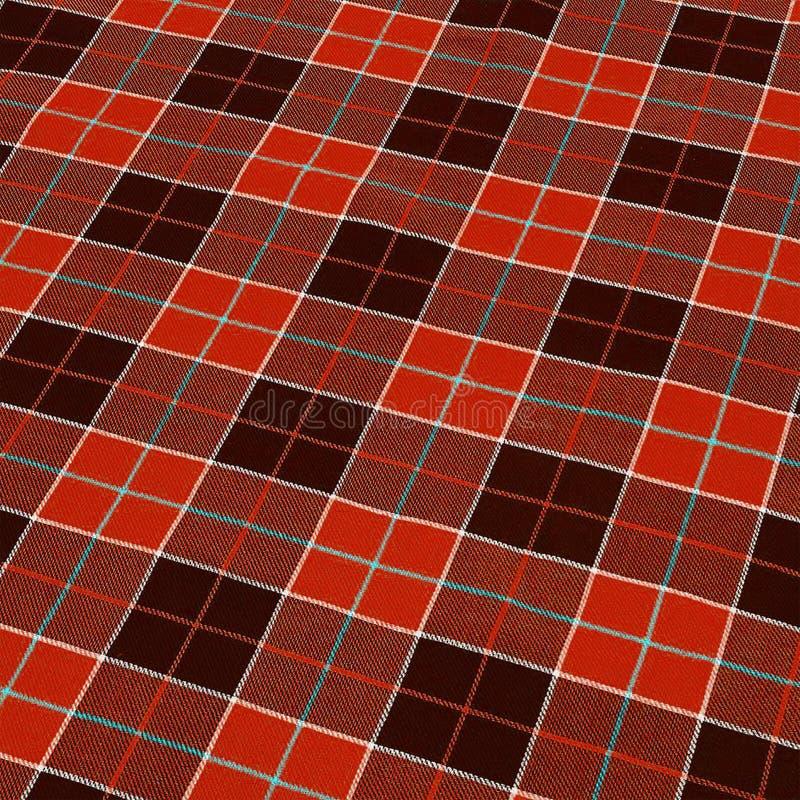 Fondo a quadretti rosso del tessuto fotografie stock