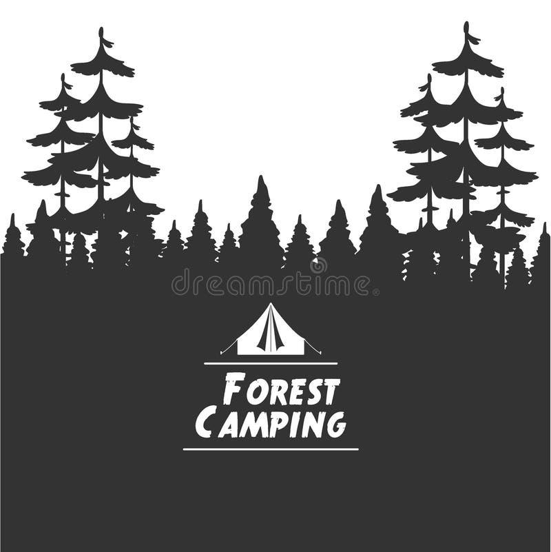 Fondo que acampa del bosque ilustración del vector