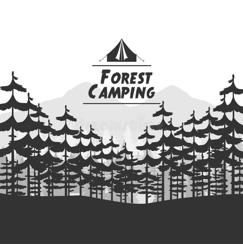 Fondo que acampa del bosque libre illustration