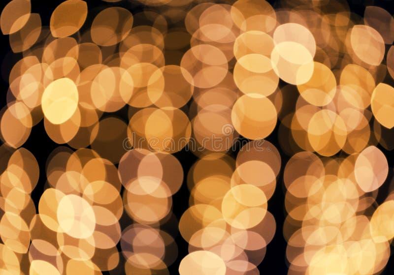 Fondo que brilla defocused del extracto Bokeh borroso de luces de oro Concepto de la Navidad y del d?a de fiesta fotos de archivo libres de regalías