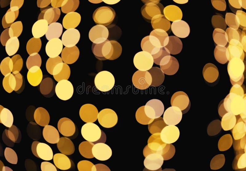 Fondo que brilla defocused del extracto Bokeh borroso de luces de oro Concepto de la Navidad y del d?a de fiesta imágenes de archivo libres de regalías