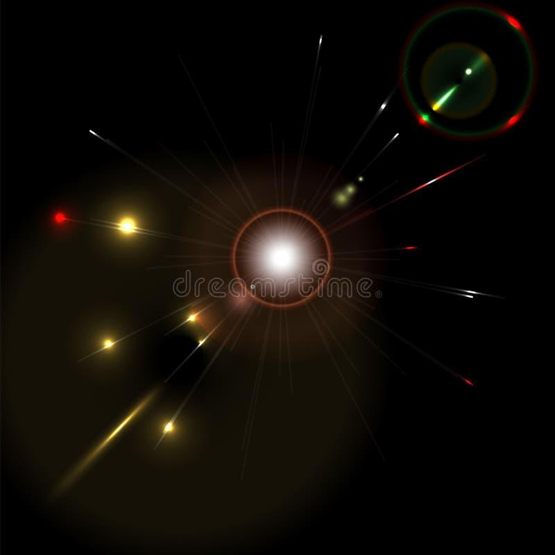 Fondo que brilla intensamente abstracto ilustración del vector