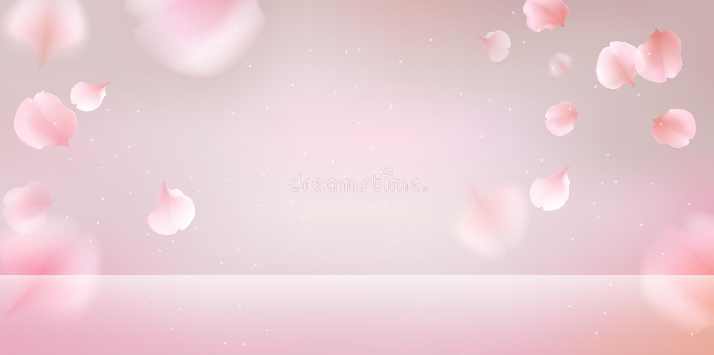 Fondo que cae de los pétalos rosados de Sakura libre illustration