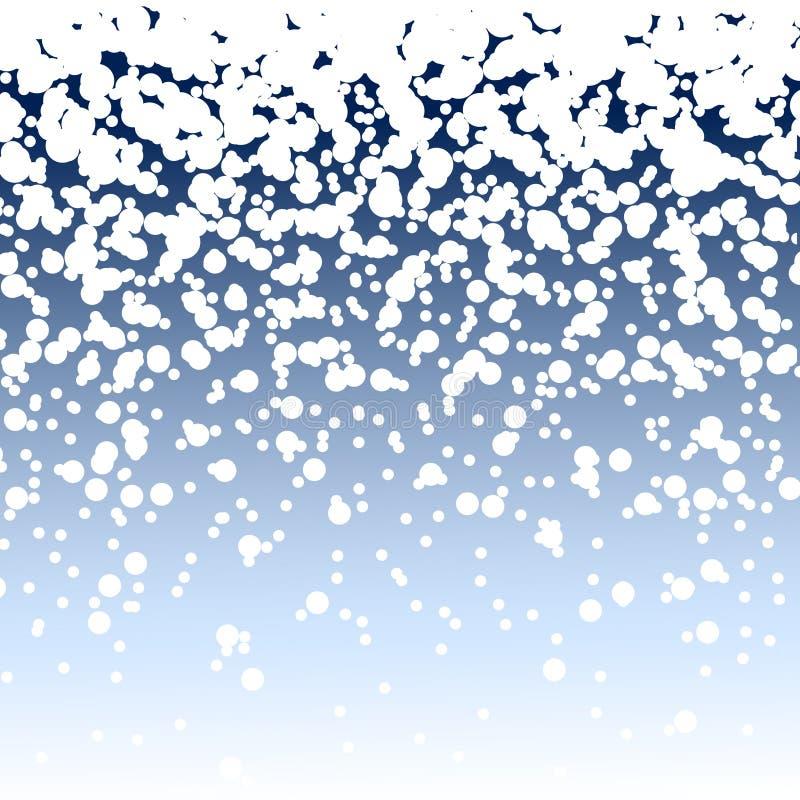 Fondo que nieva stock de ilustración