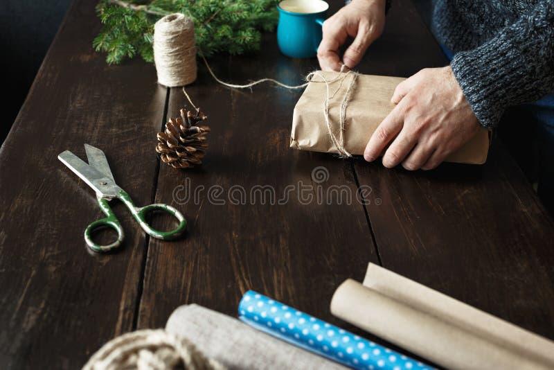 Fondo rústico de la Navidad imagen de archivo