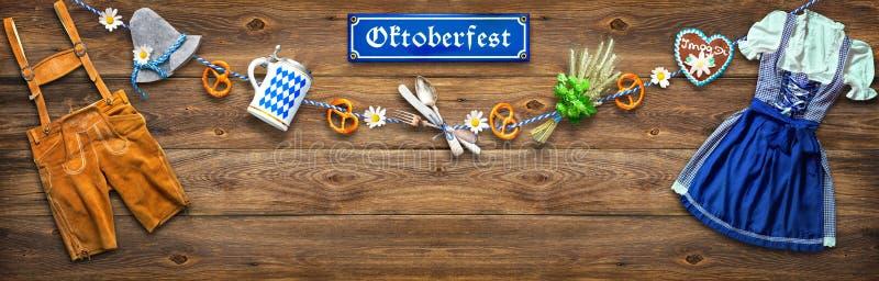 Fondo rústico para Oktoberfest foto de archivo libre de regalías