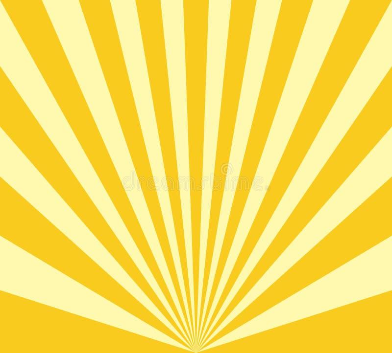 Fondo radial abstracto de la explosión del sol stock de ilustración