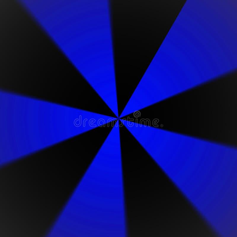 Fondo radial azul y negro dinámico del extracto del modelo libre illustration