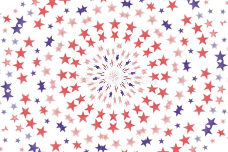 Fondo radial del papel pintado de las estrellas stock de ilustración