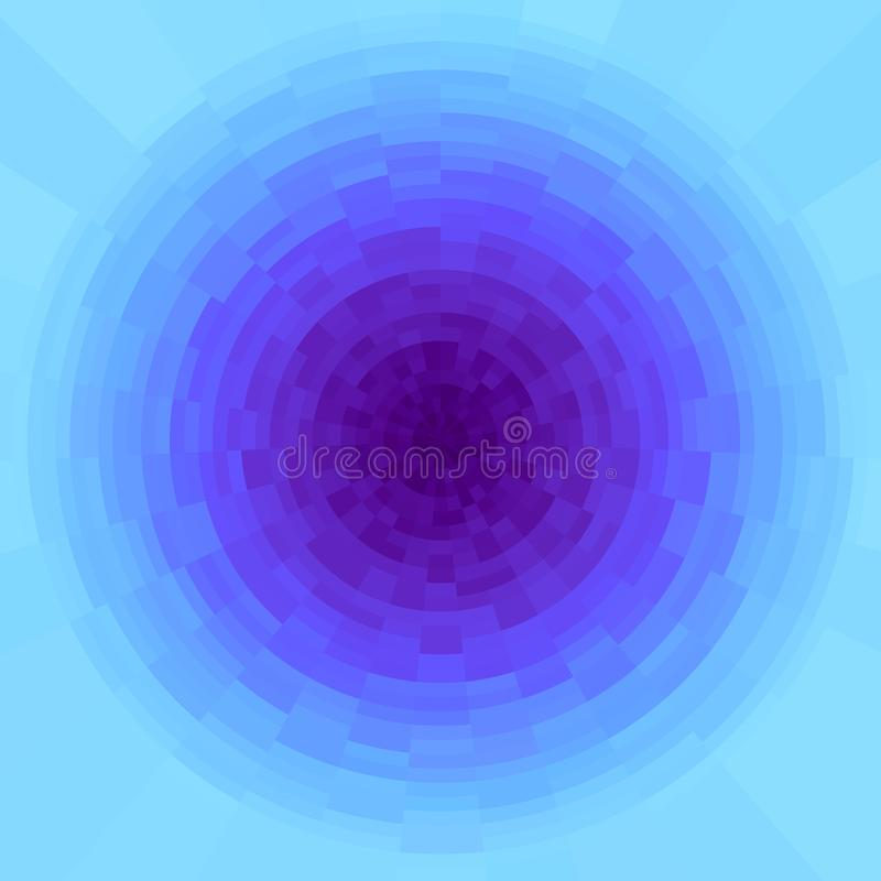 Fondo radial púrpura y ciánico abstracto de la pendiente r Círculo vivo, modelo de mosaico libre illustration