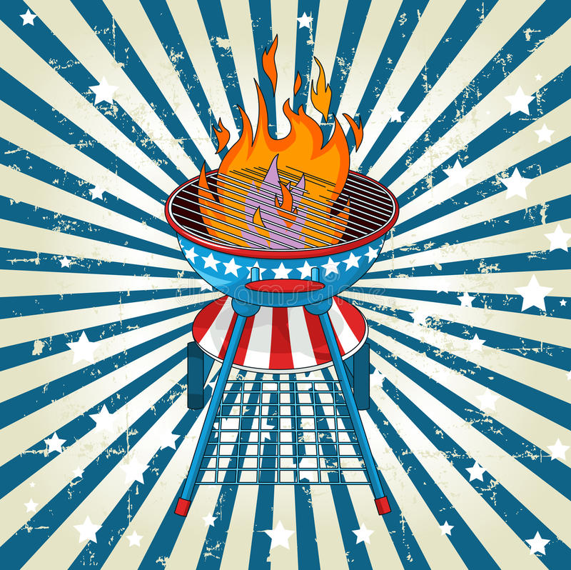 Fondo radial patriótico de la barbacoa libre illustration