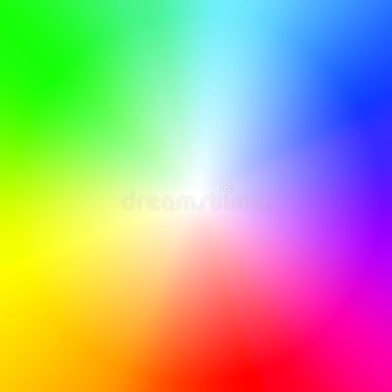 Fondo radiale con la miscela di colore dell'arcobaleno Assistente della raccoglitrice di tono illustrazione vettoriale