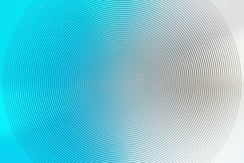 Fondo radiale di pendenza, cielo blu, estratto molle regolare della carta da parati di struttura della sfuocatura gradazione illustrazione di stock