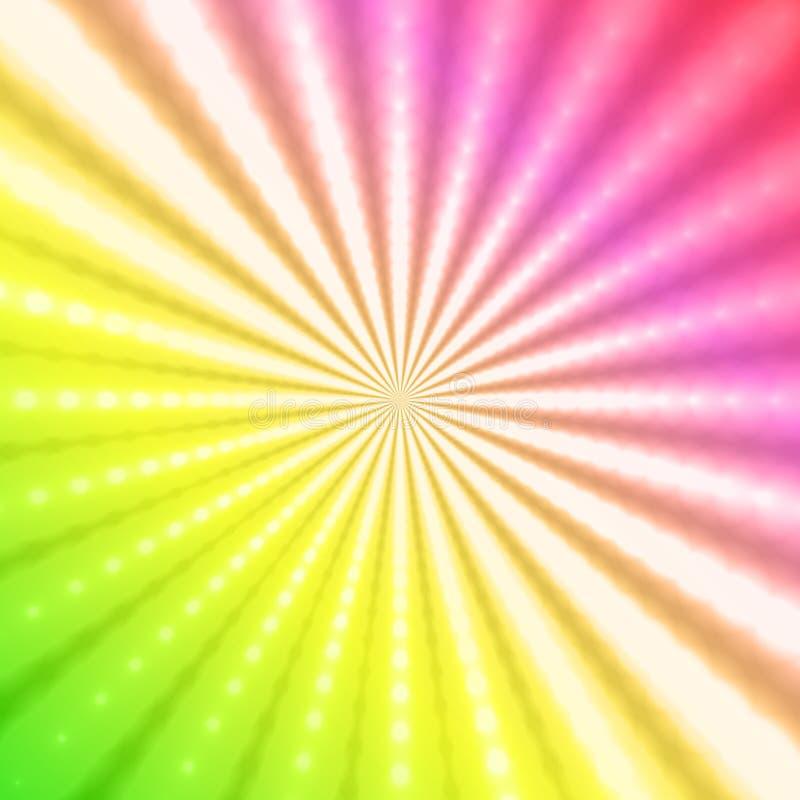 Fondo radiante abstracto del arco iris libre illustration