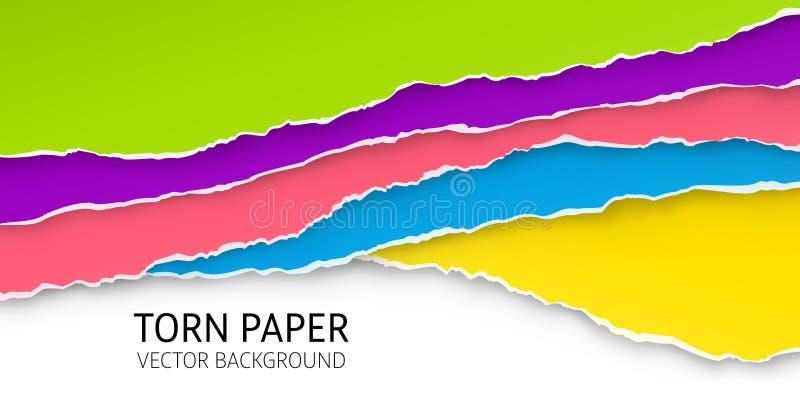 Fondo rasgado del papel del borde ilustración del vector