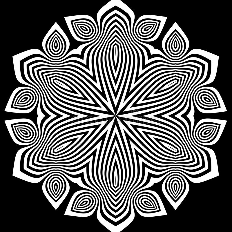 Fondo rayado abstracto blanco y negro stock de ilustración