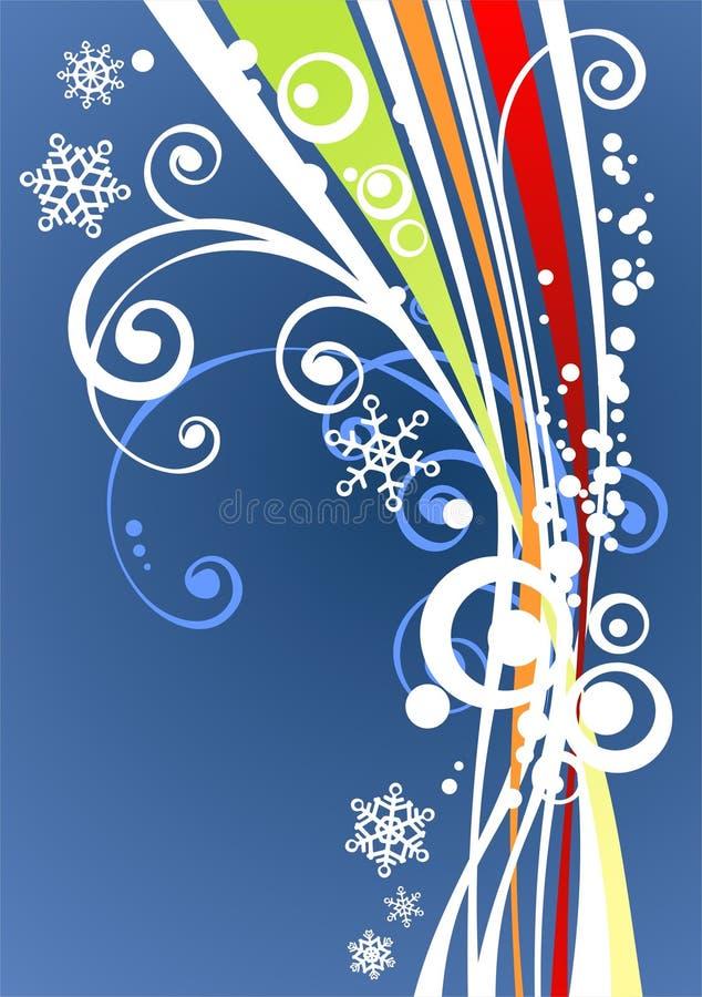 Fondo rayado azul stock de ilustración