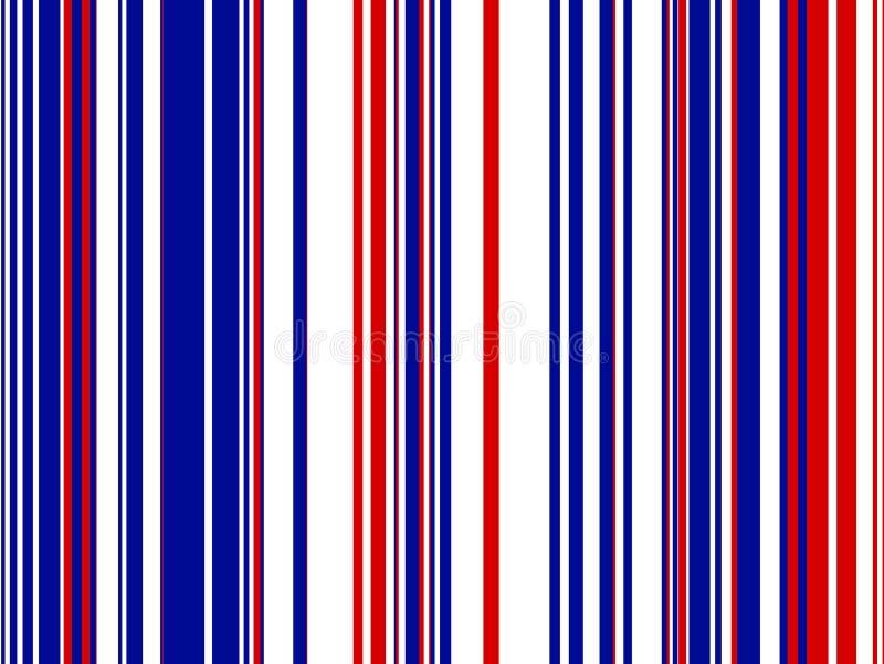 Fondo rayado azul blanco rojo ilustración del vector