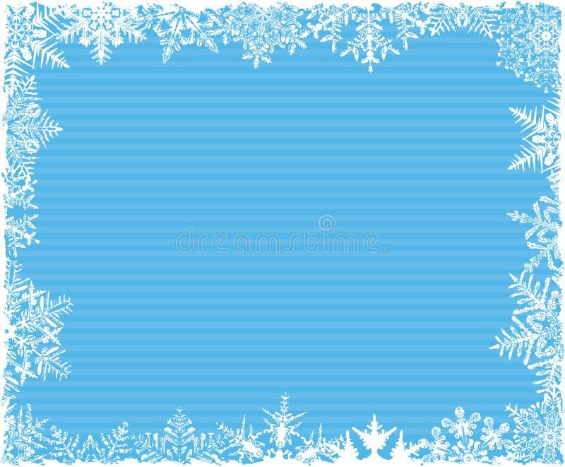 Fondo rayado azul del copo de nieve stock de ilustración