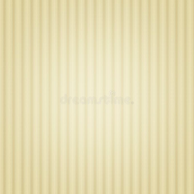 Fondo rayado beige, retro, vintage, pared, papel stock de ilustración