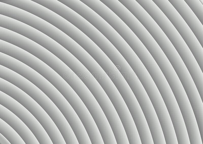 Fondo rayado blanco acodado ilustración del vector