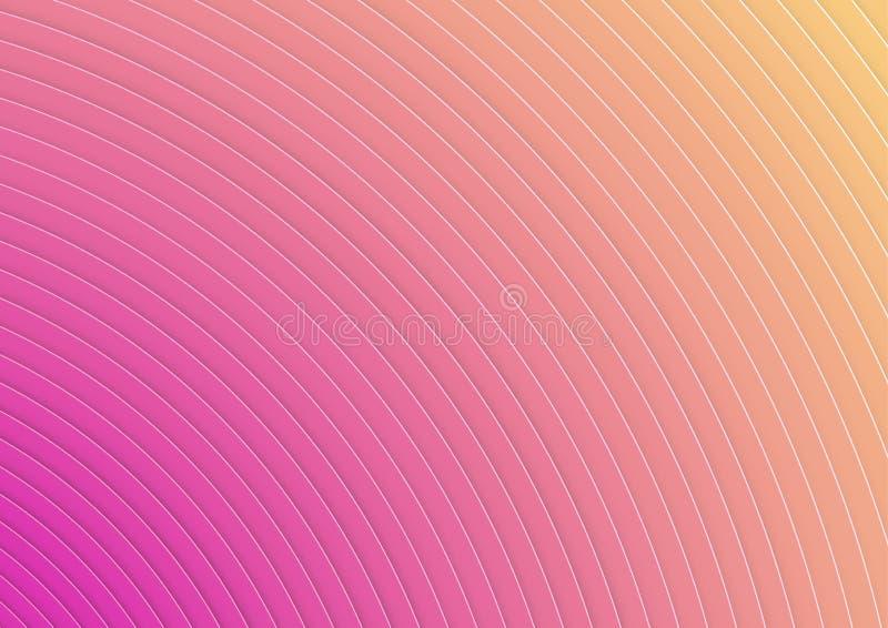 Fondo rayado colorido acodado moderno ilustración del vector