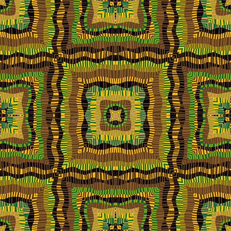 Fondo rayado colorido de los cuadrados ilustración del vector