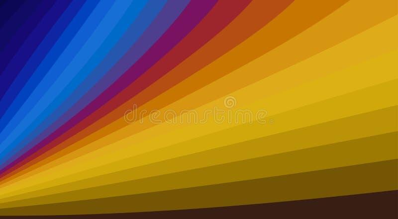 Fondo rayado con las líneas de color Modelo del vector stock de ilustración