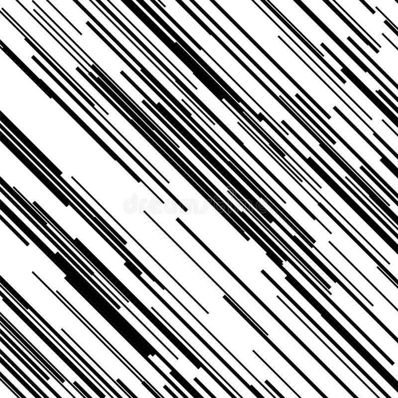 Fondo rayado con pinceladas finas y rayas Trama del modelo Contexto geométrico del Grunge con las líneas inclinadas stock de ilustración