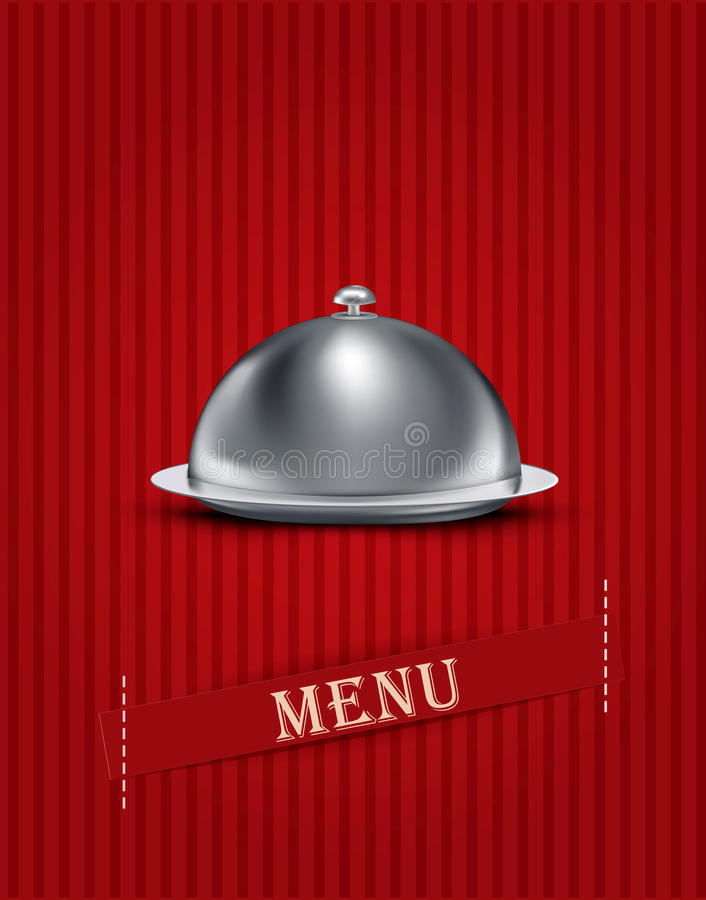 fondo rayado de la vendimia con los items de menú ilustración del vector