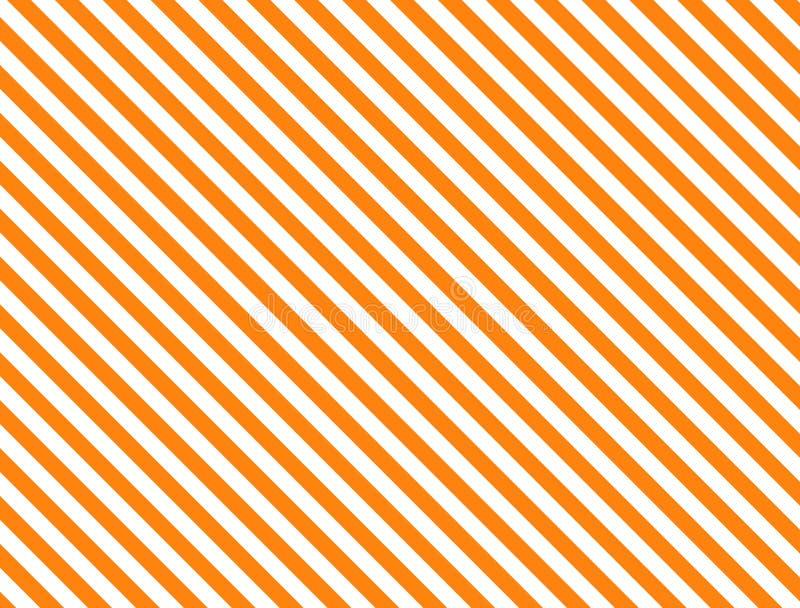 Fondo rayado diagonal del vector EPS8 en naranja libre illustration