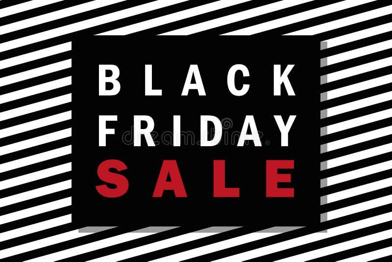 Fondo rayado negro de la promoción de venta de viernes libre illustration