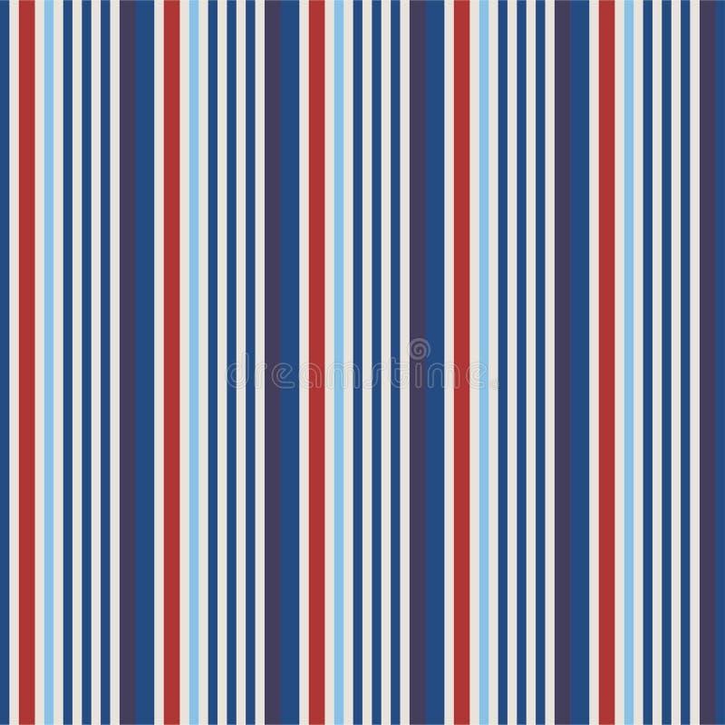 Fondo rayado rojo y azul del estilo del color de los E.E.U.U. en la cubierta y la tela ilustración del vector