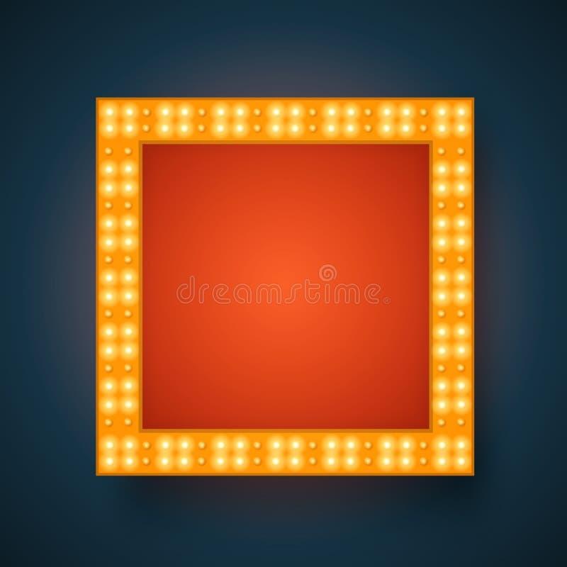 Fondo realista de la luz 3D del vector ilustración del vector