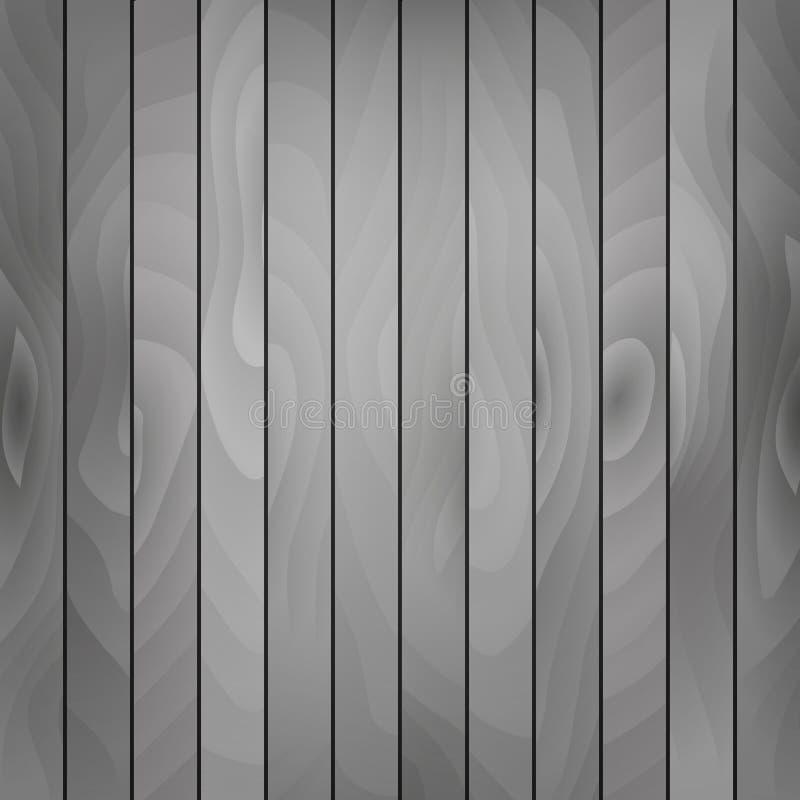 Fondo realista del tablón del vector de madera del piso Tablero de madera en color gris stock de ilustración