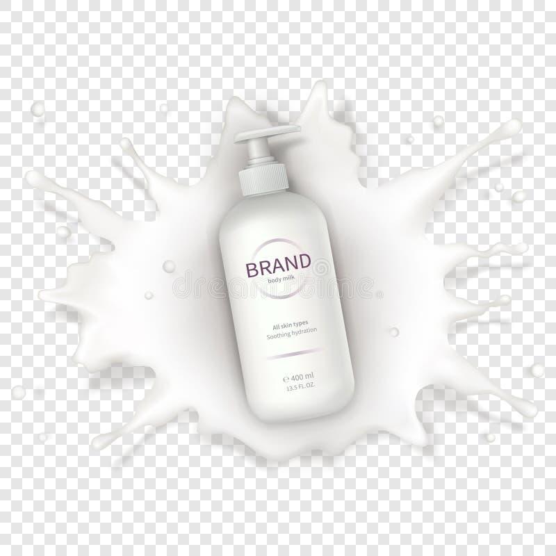 Fondo realistico cosmetico di vettore con crema royalty illustrazione gratis
