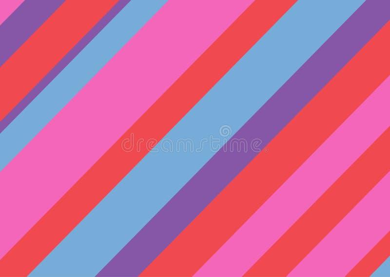 Fondo rectangular multicolor con las l?neas diagonales Ilustraci?n del vector libre illustration
