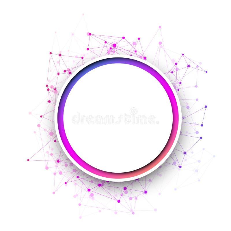 Fondo redondo blanco de la comunicación con la red colorida libre illustration