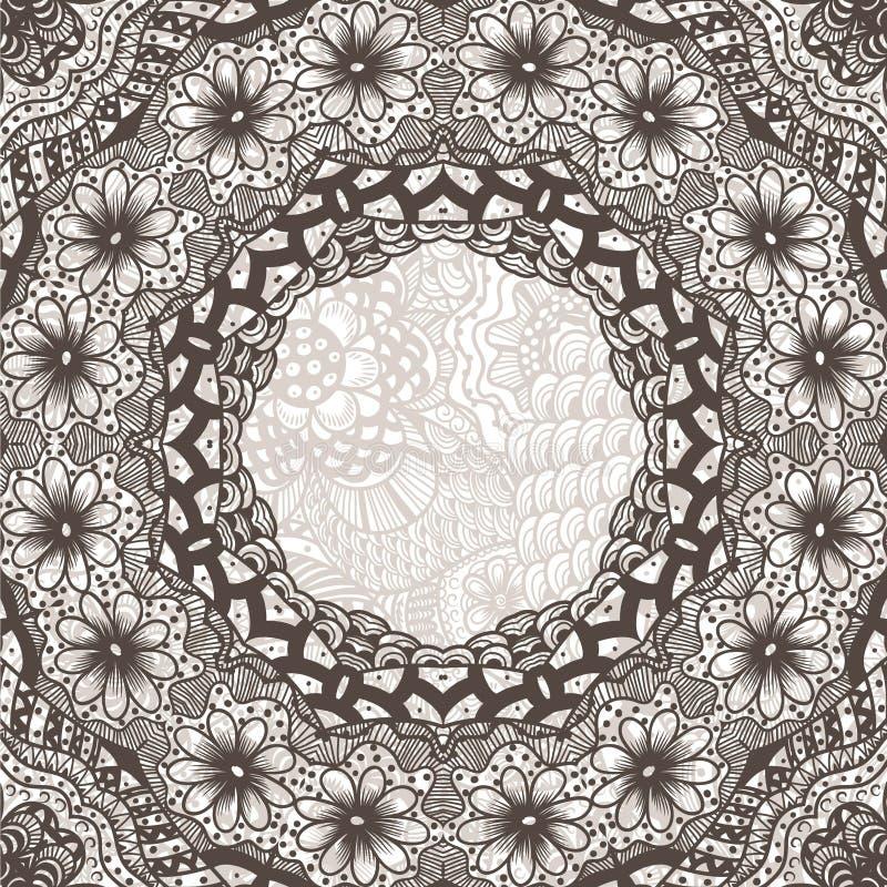 fondo redondo del ornamento ilustración del vector
