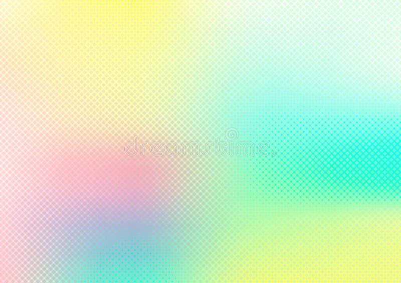 Fondo regolare vago estratto di colore pastello con struttura di griglia Variopinto vibrante luminoso dell'acquerello illustrazione vettoriale