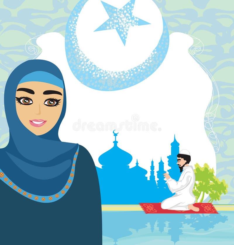 Fondo religioso abstracto - musulmán ilustración del vector